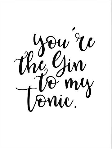 Plakatas »You are the Gin to my tonic«...