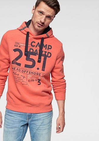 CAMP DAVID Sportinis megztinis su gobtuvu