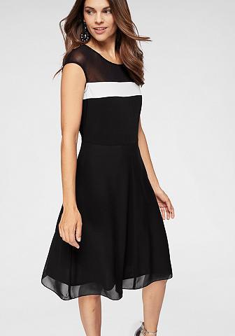 BLACK WHITE Šifoninė suknelė