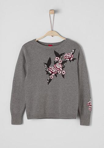 S.OLIVER RED LABEL JUNIOR Megztinis su Embroidery dėl Mädchen