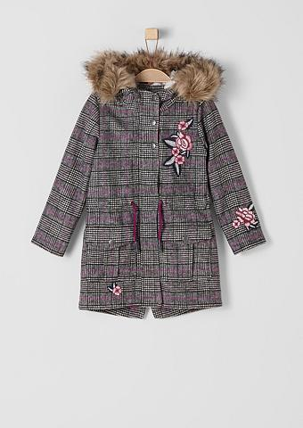 S.OLIVER RED LABEL JUNIOR Glencheck-Wollmantel su Embroidery dėl...