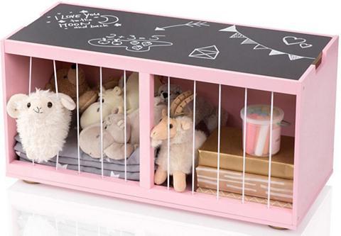 MUSTERKIND ® Žaislų dėžė iš mediena su Lenta »Til...