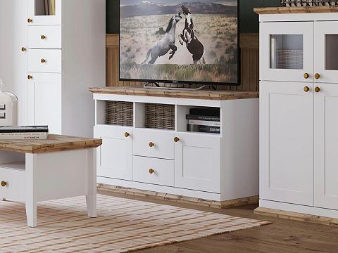 HOME AFFAIRE TV staliukas »Banburry« su 2 Medinės d...