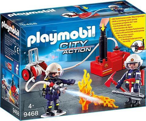 PLAYMOBIL ® Feuerwehrmänner su Löschpumpe (9468)...