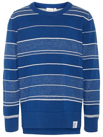 NAME IT Dryžuotas Feinstrick megztinis