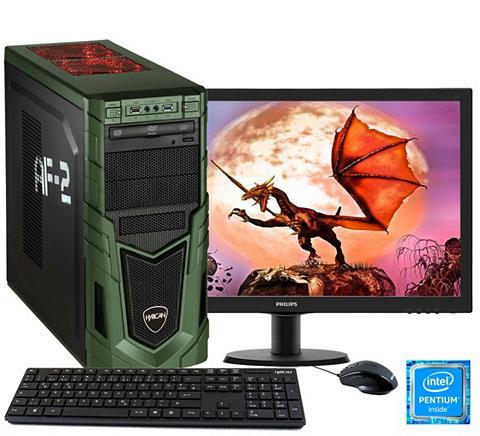 HYRICAN Žaidimų PC Pentium® G4560 8GB 1TB Ge F...