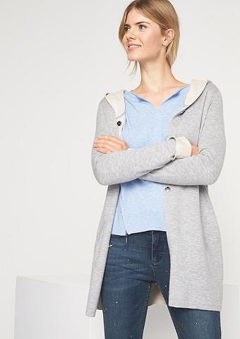 COMMA Ilgas megztinis su gobtuvas