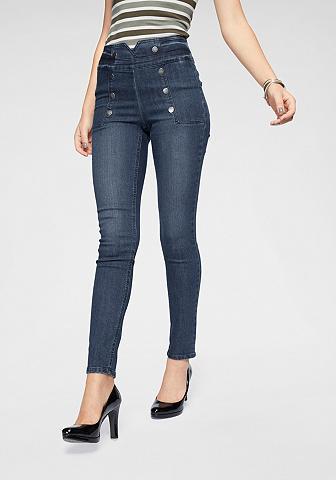 ARIZONA Siaurėjantys džinsai »vorn su glänzend...