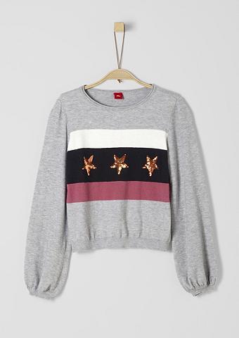 S.OLIVER RED LABEL JUNIOR Cropped megztinis su Artwork dėl Mädch...