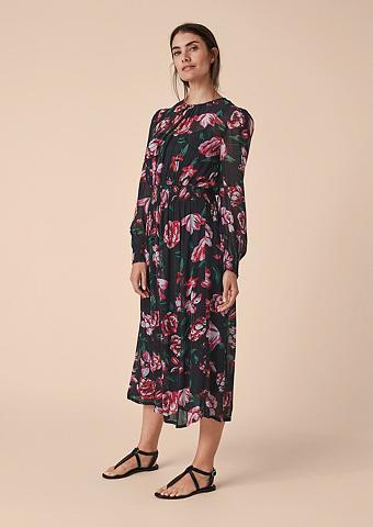 TRIANGLE Gėlėtas ilga suknelė iš šifonas