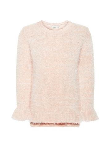 NAME IT Išsiuvinėta gėlėmis megztas megztinis