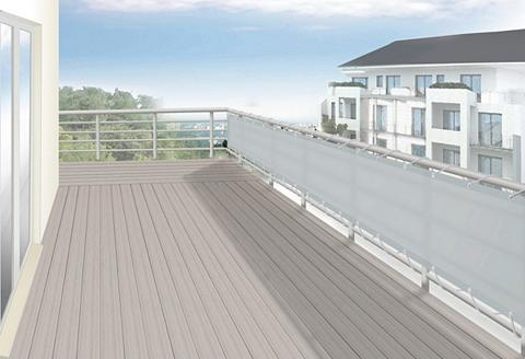 FLORACORD Balkono sienelė BxH: 500x90 cm silberg...