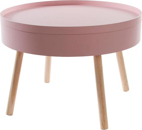 HOME AFFAIRE Pristatomas stalas »Lynn« su daiktadėž...