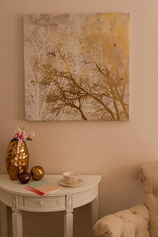 HOME AFFAIRE Aliejinis paveikslas »Baum gold«