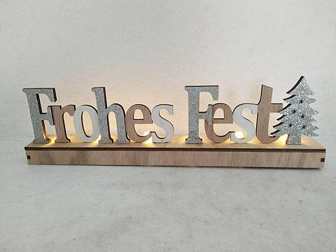 Deko-Schriftzug »Frohes Fest« (1 viene...