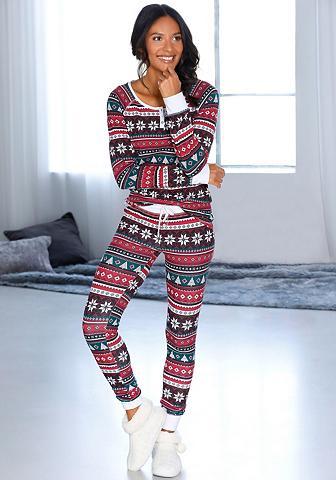 LASCANA Pižama su weihnachtlichem Muster