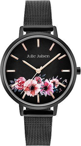 JULIE JULSEN Laikrodis »Flower All Black JJW20BLKME...