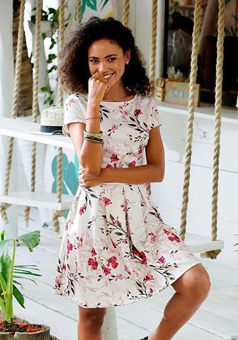 LASCANA Suknelė su marginta gėlėmis