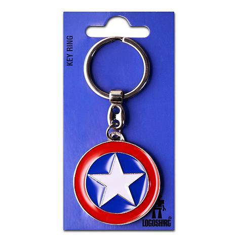 LOGOSHIRT Raktų pakabukas su Captain America Žva...