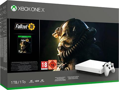 XBOX ONE X 1 TB (Bundle ir Fallout 76 Robot Whi...
