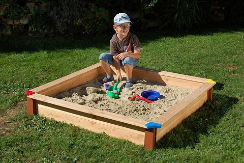 GASPO Smėlio dėžė BxLxH: 150x150x20 cm