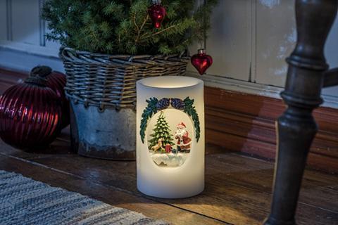 KONSTSMIDE LED Vaškinė žvakė kalėdų senelis su Hu...