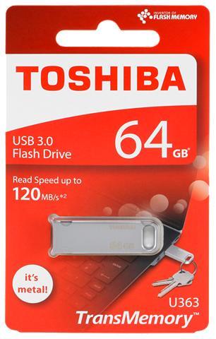 TOSHIBA USB laikmena »U363 USB laikmena 3.0 64...