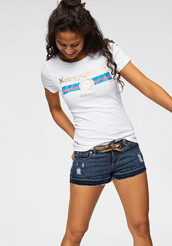 KangaROOS Marškinėliai su Label Metallic Print