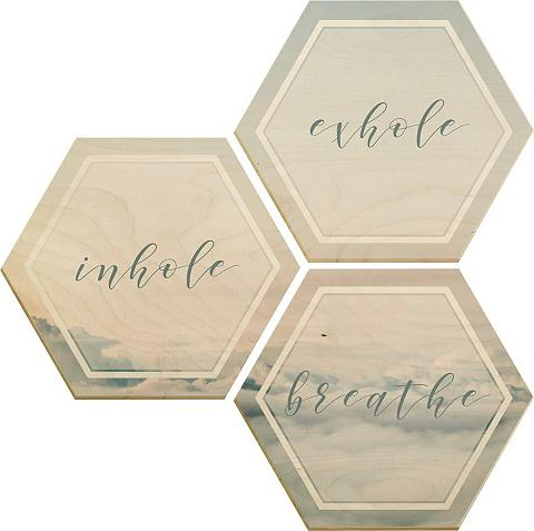 Paveikslas/nuotrauka Hexagon - mediena...