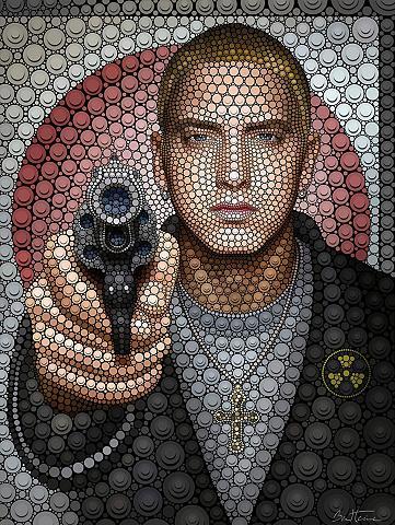 Plakatas Ben Heine »Circlism: Eminem« ...
