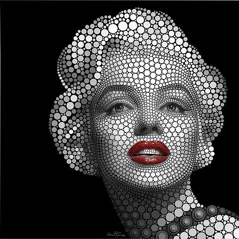 Plakatas Ben Heine »Circlism: Marilyn ...