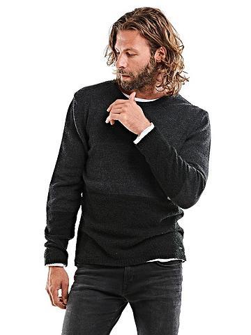 EMILIO ADANI Apvalia iškirpte megztinis
