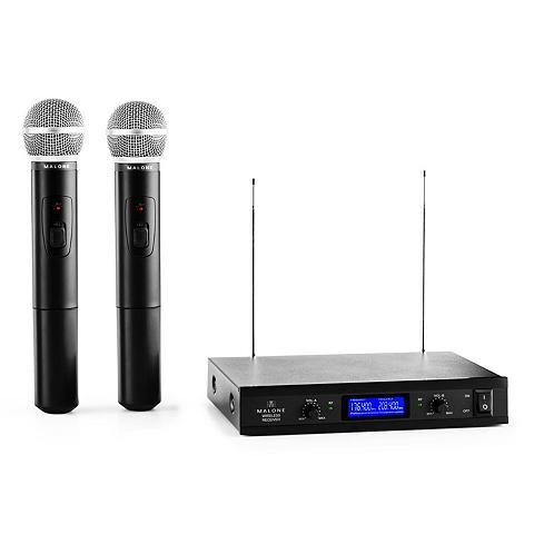 Malone 2-Kanal VHF-Funkmikrofon-Set 1x Empfän...