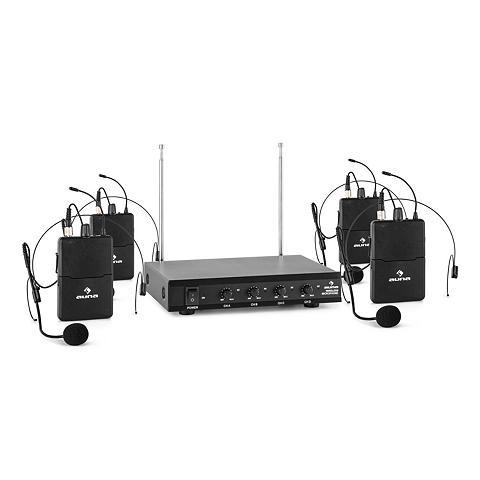 Auna 4-Kanal-VHF-Funkmikrofon rinkinys 4xHe...