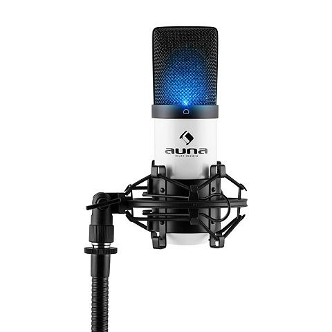 Auna LED USB laikmena Kondensator Mikrofon ...