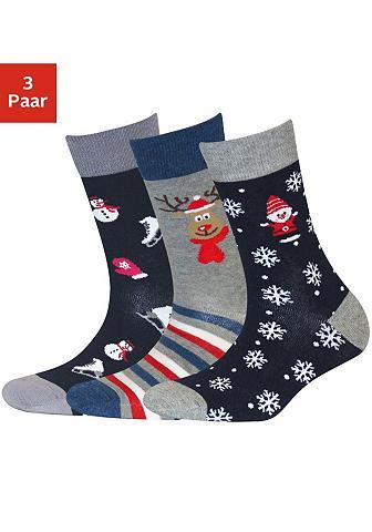 Sympatico Socken (3-Paar) su Weihnachts-Design
