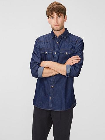 PRODUKT Denim-Slim-Fit- marškiniai ilgomis ran...