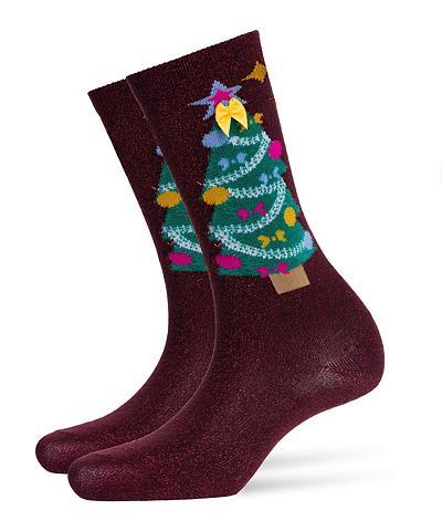 BURLINGTON Kojinės Ugly Christmas (1 poros)
