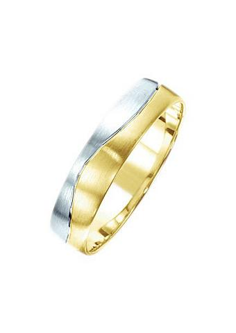 FIRETTI Vestuvinis žiedas su Gravur »bicolor s...