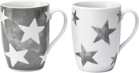 2-tlg. Puodelių rinkinys su žvaigždėta...