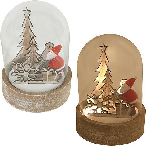 Glaskuppel su gražus Weihnachtswelt