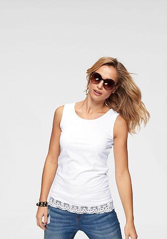 Aniston CASUAL Marškinėliai be rankovių su Spitze ant...