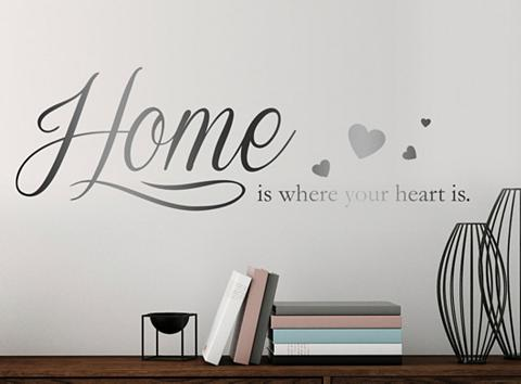 QUEENCE Sienos lipdukai »Home is where your he...