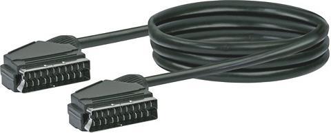 Schwaiger Scart Kabel Ø 10 mm Anschlusskabel Sca...
