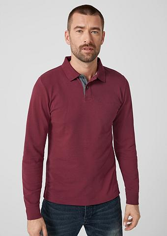 S.OLIVER RED LABEL Polo-Longsleeve iš Baumwoll-Piqué
