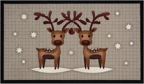 HANSE HOME Durų kilimėlis »Two Reindeers« rechtec...