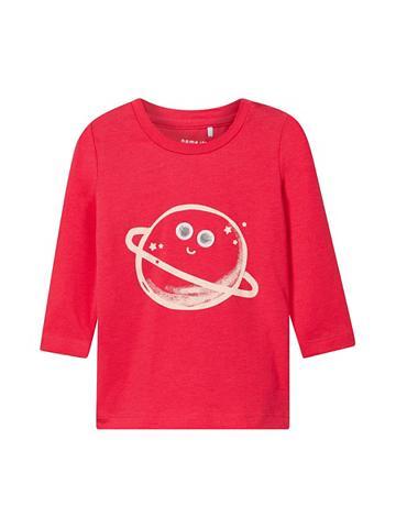 NAME IT Raštas Marškinėliai su ilgis rankovėmi...