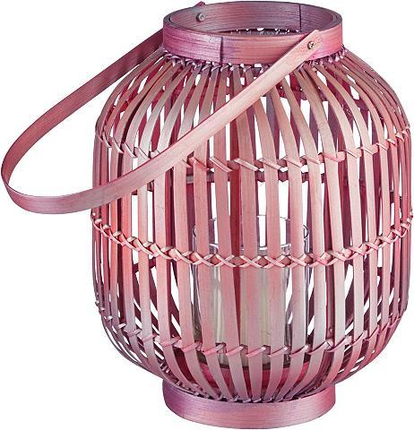 HOME AFFAIRE Žibintas »Boho Pink« iš Bambukas
