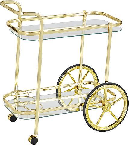 HOME AFFAIRE Serviravimo vežimėlis iš plienas su 2 ...