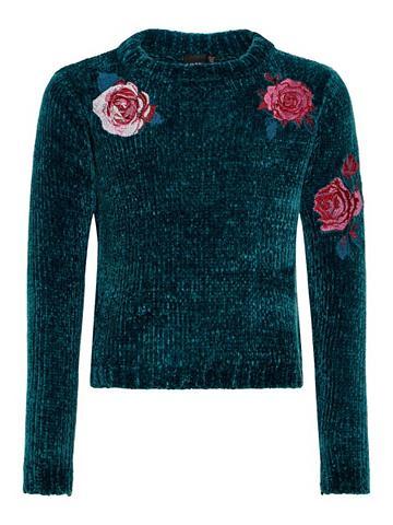 NAME IT Išsiuvinėta gėlėmis Megztinis